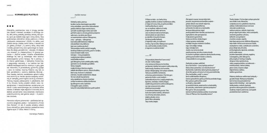 Kornelijus Platelis | Poezija